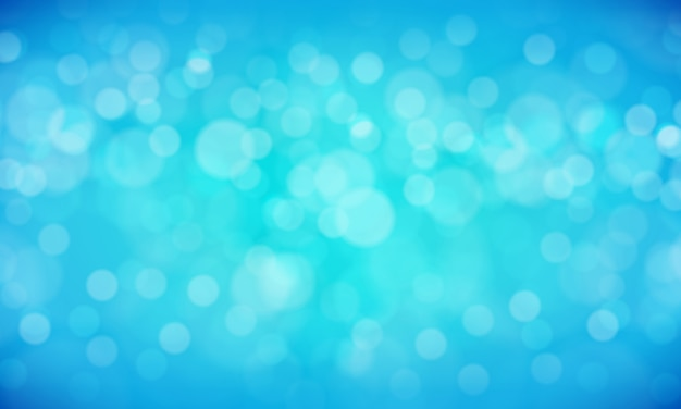 Abstrato azul bokeh fundo como turva oceano