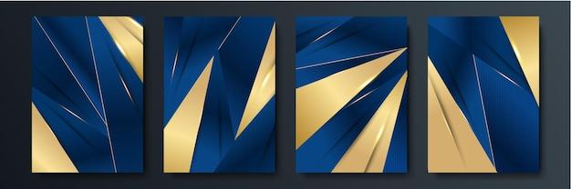 Abstrato azul cinza ouro seta direção metálica luxo sobreposição design moderno futurista ilustração vetorial de fundo.