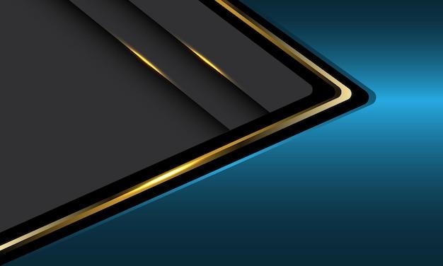 Abstrato azul cinza ouro seta direção metálica luxo sobreposição futurista de fundo vector