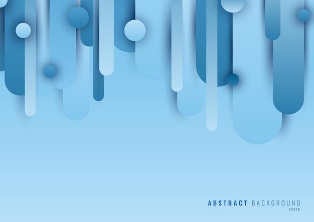 Abstrato azul círculo arredondado linha forma camada azul de fundo