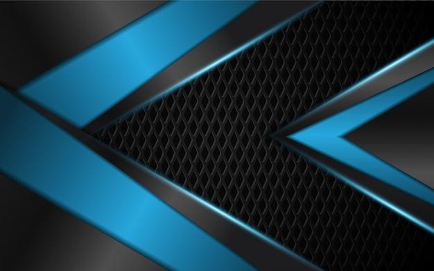 Abstrato azul claro com formas de metal escuras