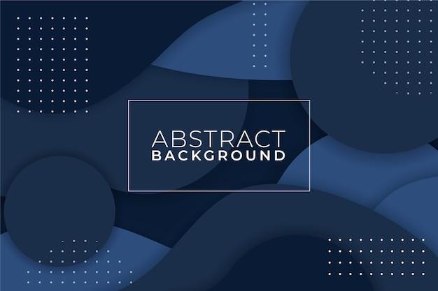 Abstrato azul clássico com memphis Vetor Premium