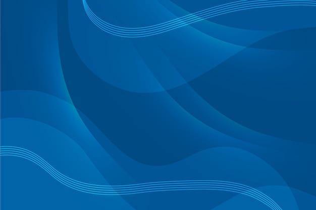 Abstrato azul clássico com ondas