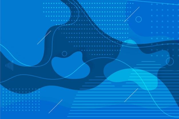 Abstrato azul clássico com pontos e manchas