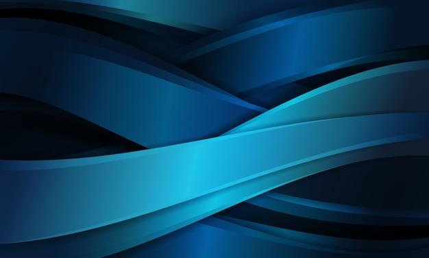 Abstrato azul com formas de curva padrão cruz