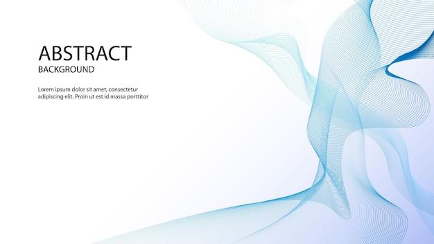 Abstrato azul com fundo de onda