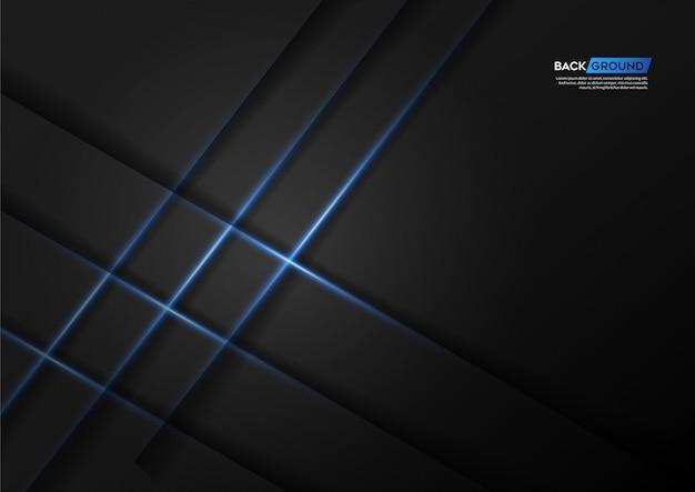 Abstrato azul com luz azul