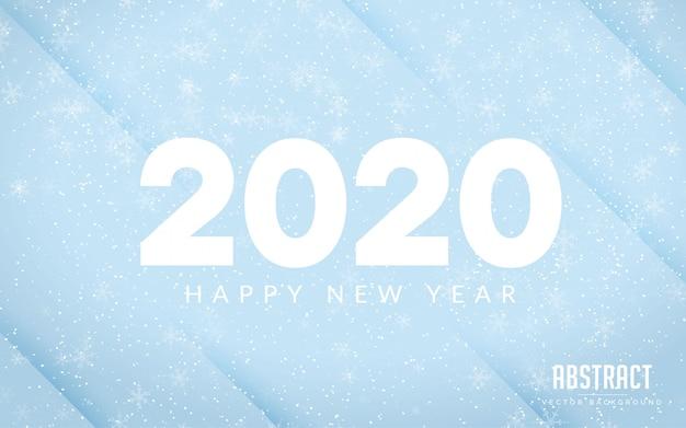 Abstrato azul cor feliz ano novo moderno