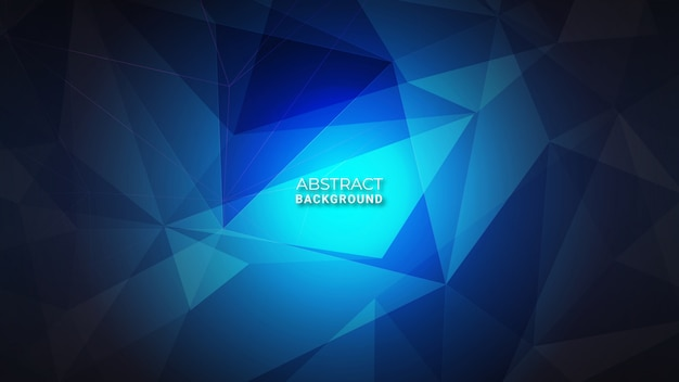 Abstrato azul cristal escuro