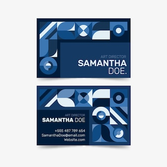 Abstrato azul design clássico para cartão de visita