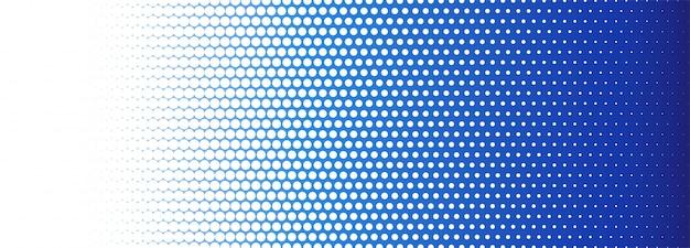 Abstrato azul e branco pontilhado banner fundo