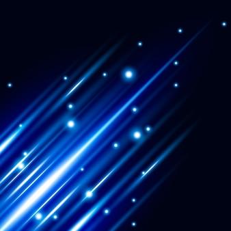 Abstrato azul efeito de luz de fundo vector