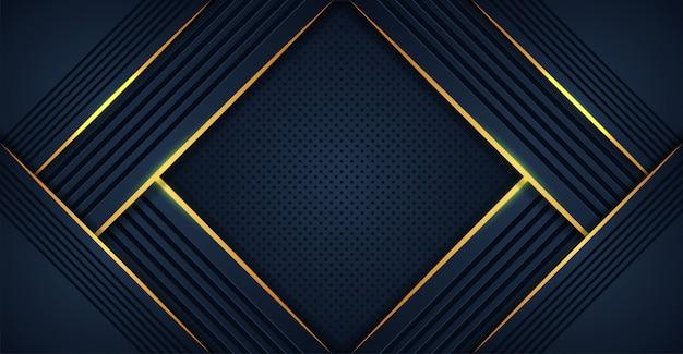 Abstrato azul escuro com camadas de sobreposição de luz amarela