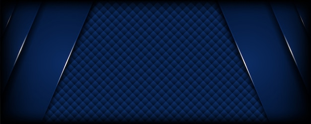 Abstrato azul escuro com camadas de sobreposição