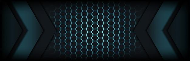 Abstrato azul escuro com linhas destaca o fundo