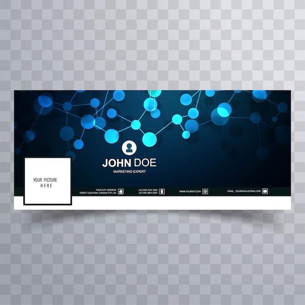 Abstrato azul facebook timeline banner modelo de design