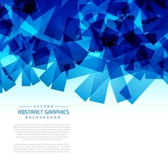 Abstrato azul formas fundo gráfico
