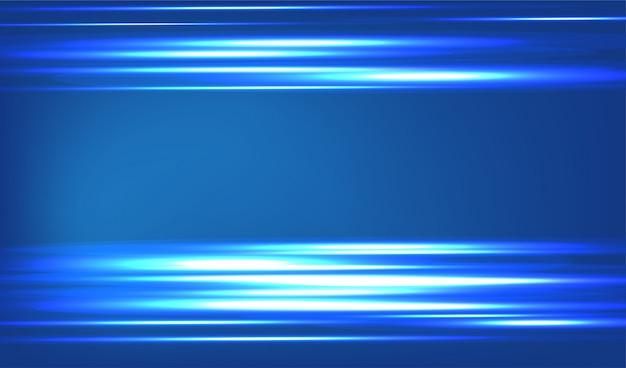 Abstrato azul. linha azul de luz.