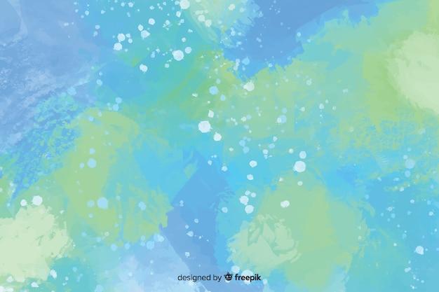Abstrato azul pintado à mão