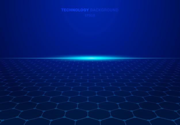Abstrato azul tecnologia hexágono de fundo
