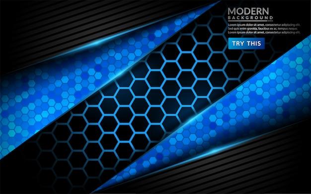 Abstrato azul tecnologia moderna. projeto futurista do fundo