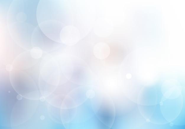 Abstrato azul turva com bokeh