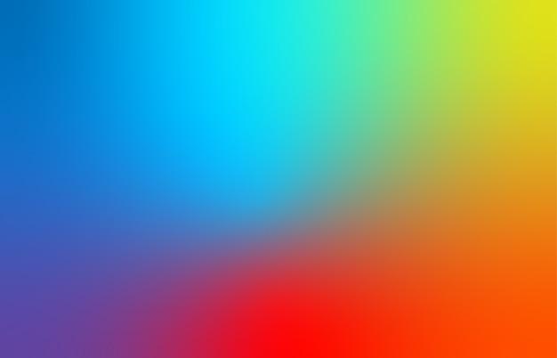 Abstrato azul, vermelho e amarelo desfocam o fundo gradiente de cor para web, apresentações e impressões.