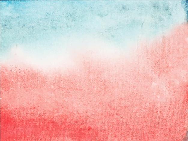 Abstrato base aquarela vermelho. é uma mão desenhada.