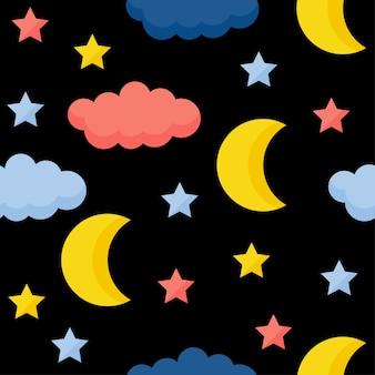 Abstrato base artesanal estrela sem costura de fundo. papel de parede artesanal infantil para cartão de design, fralda de bebê, fralda, álbum de recortes, papel de embrulho de férias, têxteis, impressão de bolsa, camiseta etc.