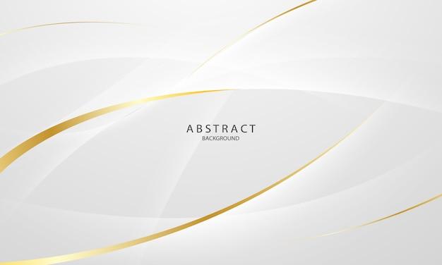 Abstrato base cinza e dourado com ondas dinâmicas. rede de tecnologia.