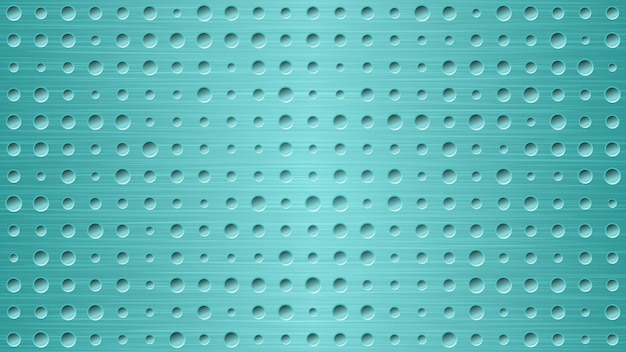Abstrato base de metal com orifícios em tons de azul claro
