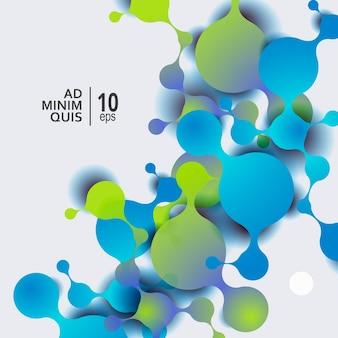 Abstrato base de moléculas com células