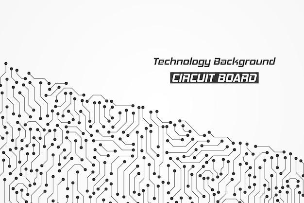 Abstrato base de padrão de placa de circuito de tecnologia