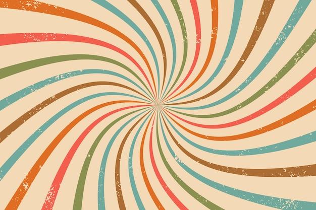 Abstrato base de raios retro vintage com efeito grunge