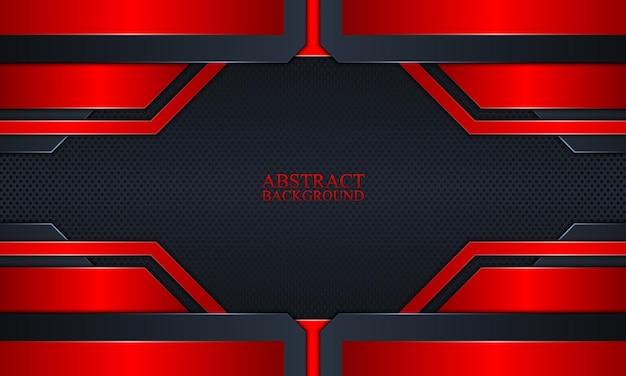 Abstrato base de tecnologia com azul marinho escuro e listras de brilho vermelho.