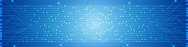 Abstrato base de tecnologia digital, padrão de placa de circuito azul, microchip, linha de energia
