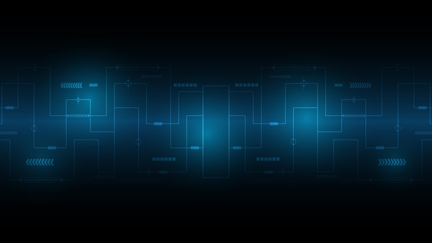 Abstrato base de tecnologia, fundo de inovação de conceito de comunicação de alta tecnologia, fundo azul digital de ciência e tecnologia