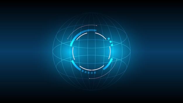 Abstrato base de tecnologia, ilustração, inovação de conceito de comunicação de alta tecnologia