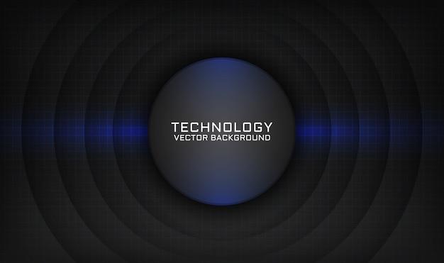 Abstrato base de tecnologia preto com efeito de luz azul