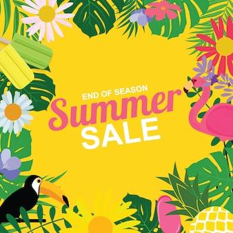 Abstrato base de venda de verão.