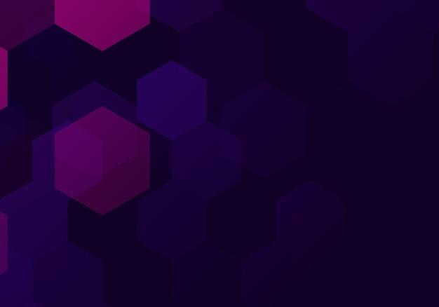 Abstrato base hexagonal roxo. ilustração vetorial. fundo abstrato.