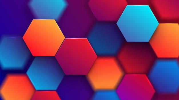 Abstrato base hexagonal.
