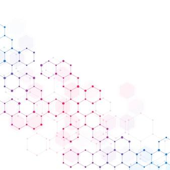 Abstrato base médico com estrutura de moléculas