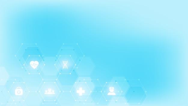 Abstrato base médico, ideia para tecnologia de saúde, medicina de inovação, saúde, ciência e pesquisa.
