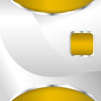 Abstrato base metálico com elemento ouro. ilustração vetorial.