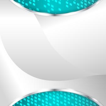 Abstrato base metálico com elemento turquesa. ilustração vetorial.