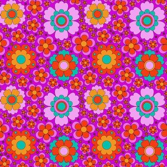 Abstrato base padrão floral groovy. ilustração vetorial.