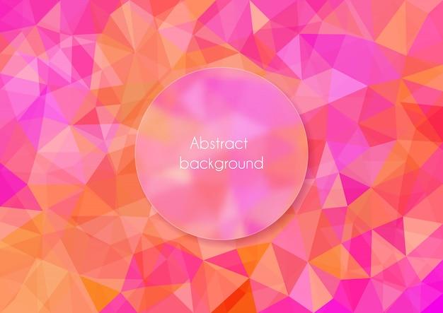 Abstrato base poligonal