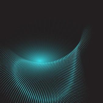 Abstrato base techno com pontos de retícula