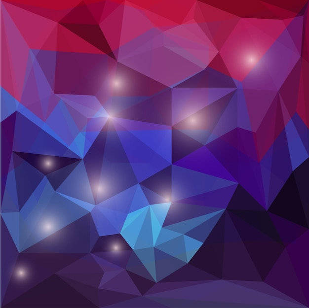 Abstrato base triangular poligonal de cor brilhante com luzes brilhantes para uso em design de cartão, convite, cartaz, banner, cartaz ou capa de outdoor